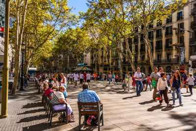 Space in one of the most commercial streets of Barcelona